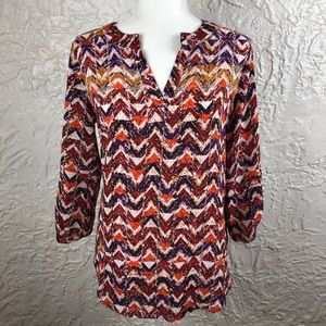 Cato High Low Tunic Style Print Top
